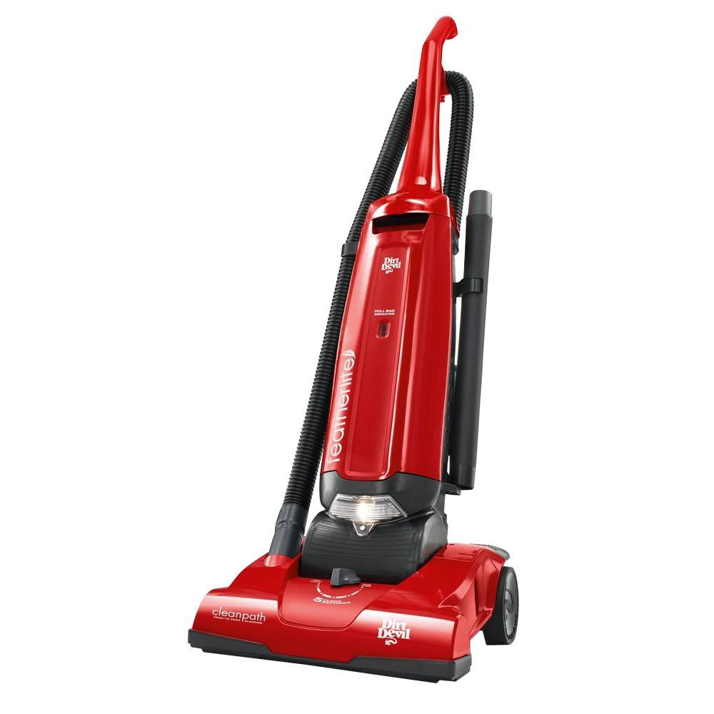 Dirt Devil Featherlite Bagged Upright Vacuum Cleaner, Red...