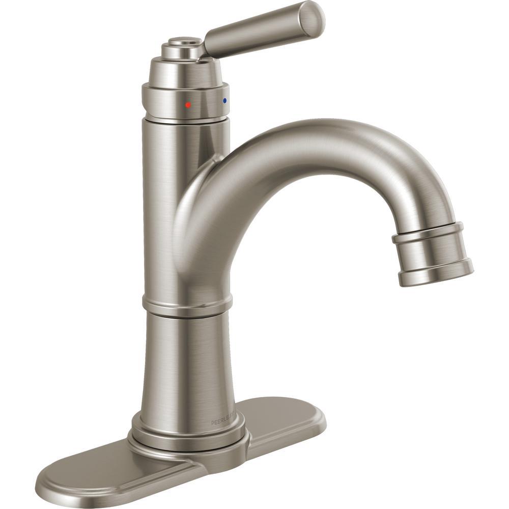 Peerless Westchester 4 in. Centerset Single-Handle Bathroom Faucet in Brushed Nickel