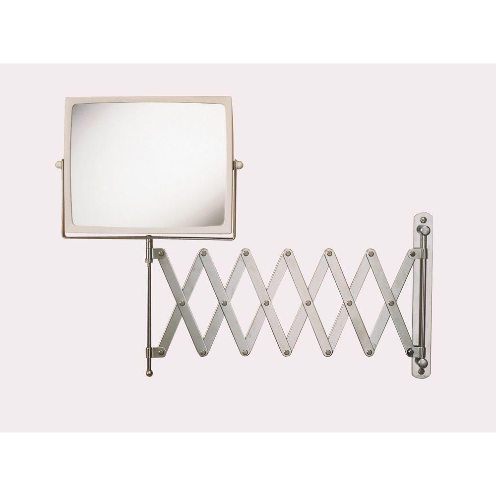 Jerdon 8 in. x 7 in. Wall Mount Hind Sight Mirror in Chrome/White ...