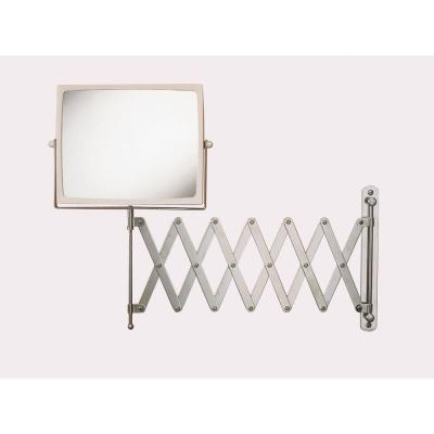 8 in. x 7 in. Wall Mount Hind Sight Makeup Mirror in Chrome/White