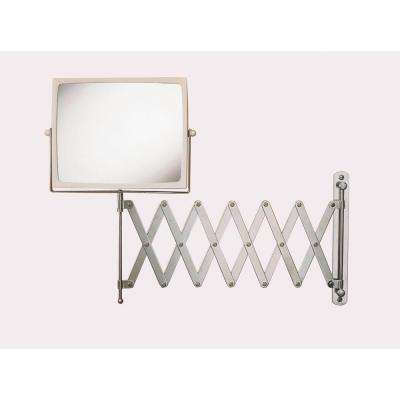 8 in. x 7 in. Wall Mount Hind Sight Mirror in Chrome/White