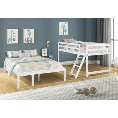 Twin/Full Bunk Bed With Solid Wood Bed Frame And No Need For Box Spring