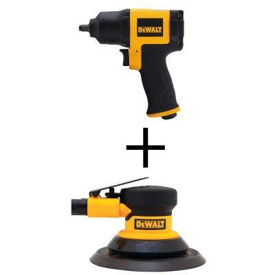 3/8 in. Pneumatic Impact Wrench with Bonus Pneumatic Palm Sander
