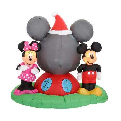 6.5 ft. H Panoramic Projection Inflatable Mickey Mouse's Clubhouse Scene