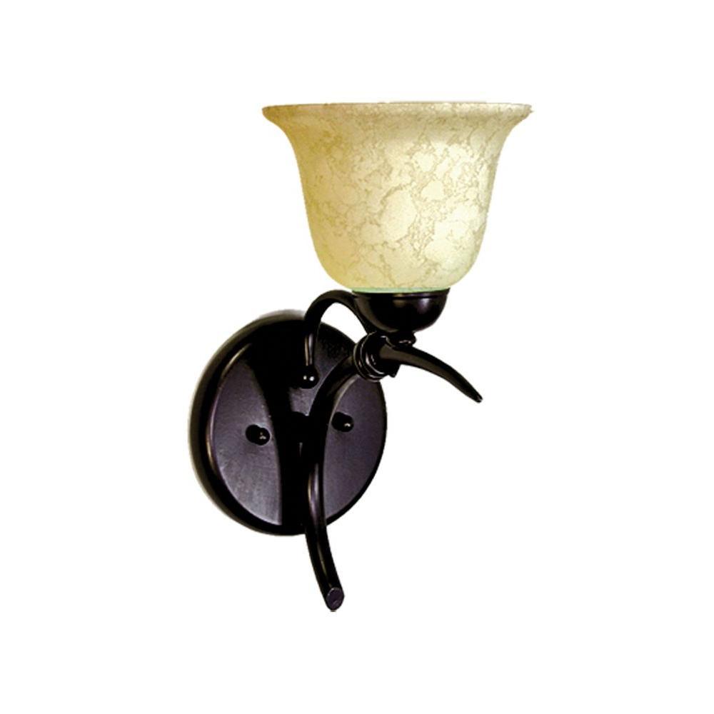 1-Light Golden Bronze Sconce