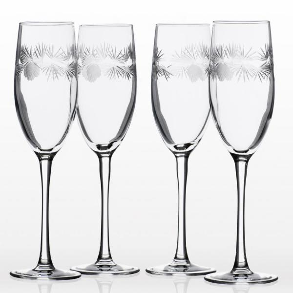 Icy Pine 8 oz. Clear Champagne Flute (Set of 4)