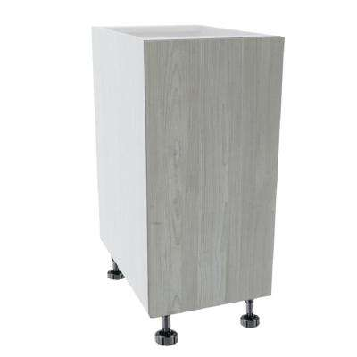Ready to Assemble 12 in. x 34-1/2 in. x 24 in. Base Cabinet Door in Grey Nordic Wood