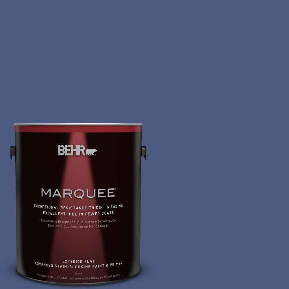 BEHR MARQUEE 1-gal. #BIC-37 Dark Iris Flat Exterior Paint