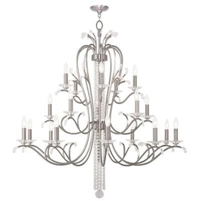 Serafina 20-Light Brushed Nickel Chandelier