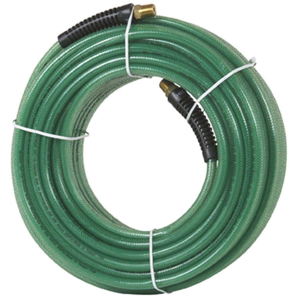 Hitachi 1/4 in. x 100 ft. Polyurethane Green Thread Air Hose