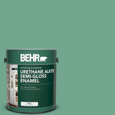 1 gal. #M420-5 Free Green Urethane Alkyd Semi-Gloss Enamel Interior/Exterior Paint