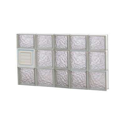 36.75 in. x 21.25 in. x 3.125 in. Frameless Ice Pattern Glass Block Window with Dryer Vent