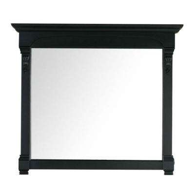 Brookfield 47 in. W x 42 in. H Framed Wall Mirror in Antique Black