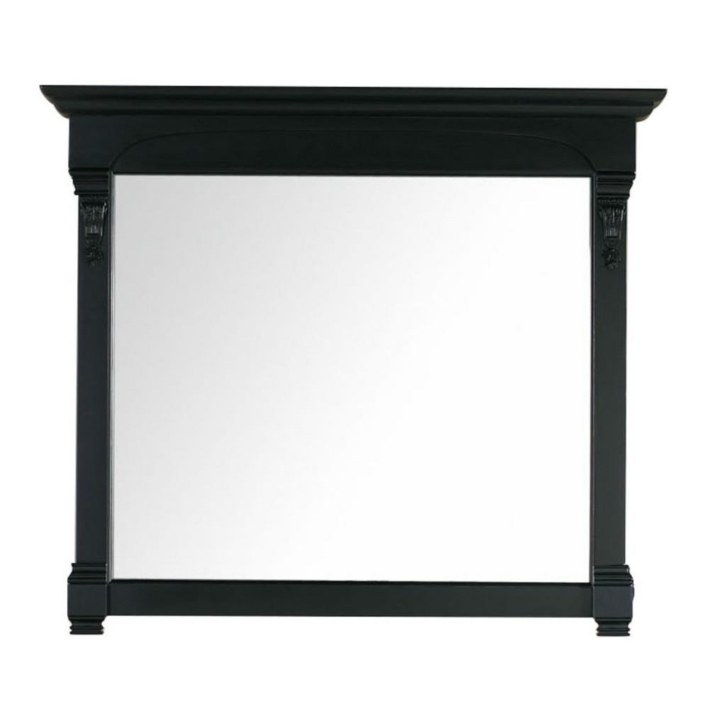 James Martin Vanities Brookfield 47 in. W x 42 in. H Framed Wall Mirror in Antique Black
