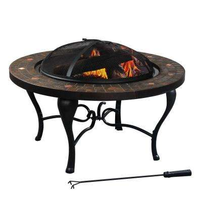 Bavaria 35 in. Tile Top Fire Pit
