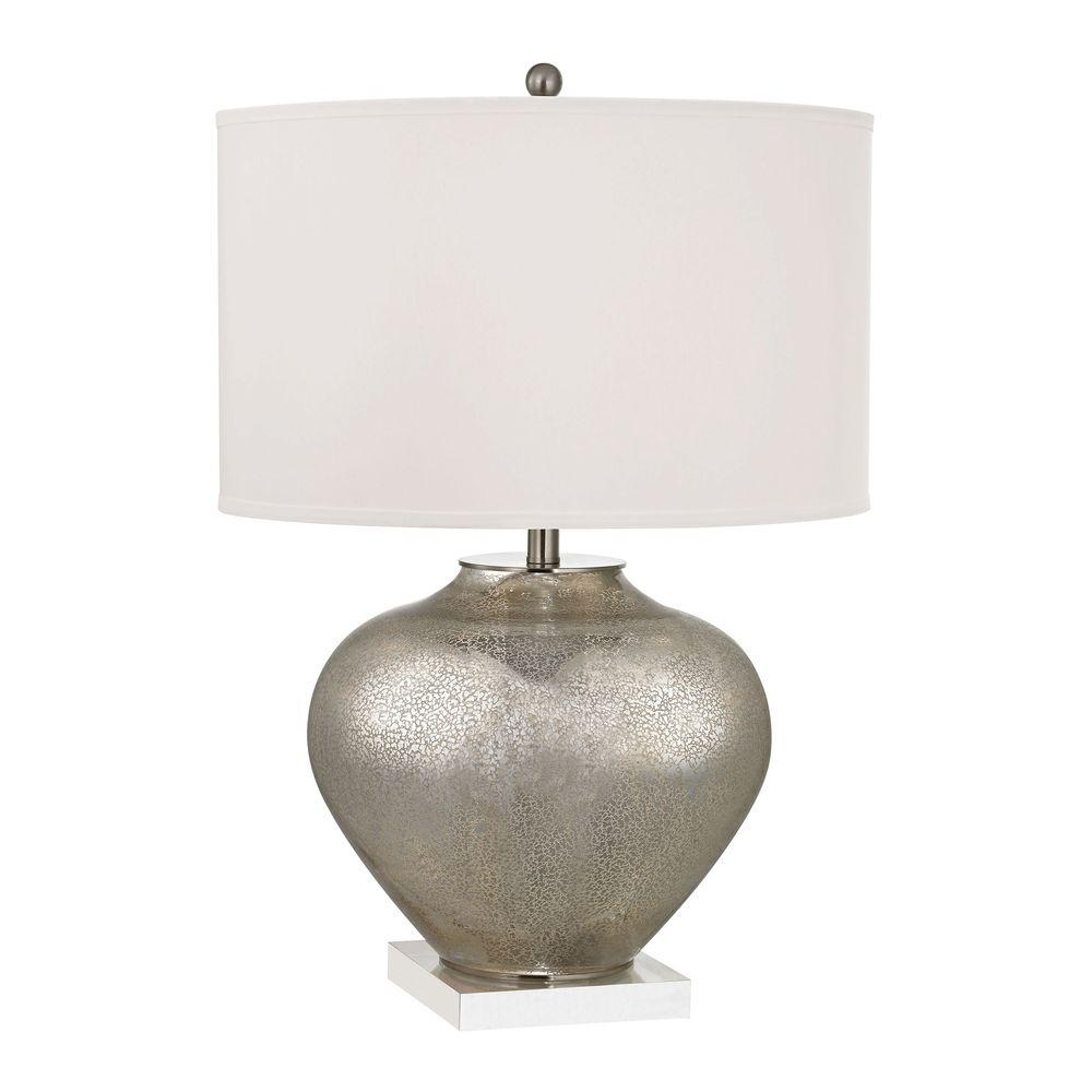 Titan Lighting Edenbridge 28 In Antique Mercury Glass Table Lamp