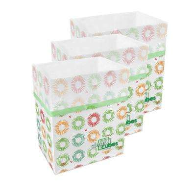 10 Gal. Party Pattern Trash Can and Recycling Bin (3-Pack)