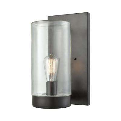 Ambler Large 1-Light Oil Rubbed Bronze with Clear Glass Outdoor Wall Mount Sconce