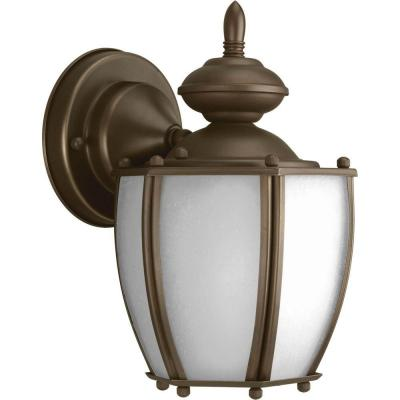 Roman Coach Collection Antique Bronze 9.8 in. Outdoor Wall Lantern Sconce