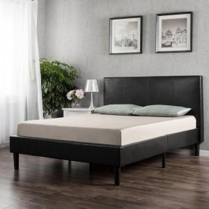Deals on Zinus Gerard Faux Leather Platform Bed Frame