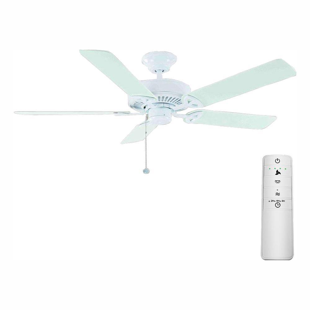 Farmington 52 in. Matte White Smart Ceiling Fan with WINK Remote Control