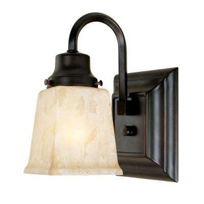 Bathgate Collection 1-Light Weathered Copper Wall Sconce