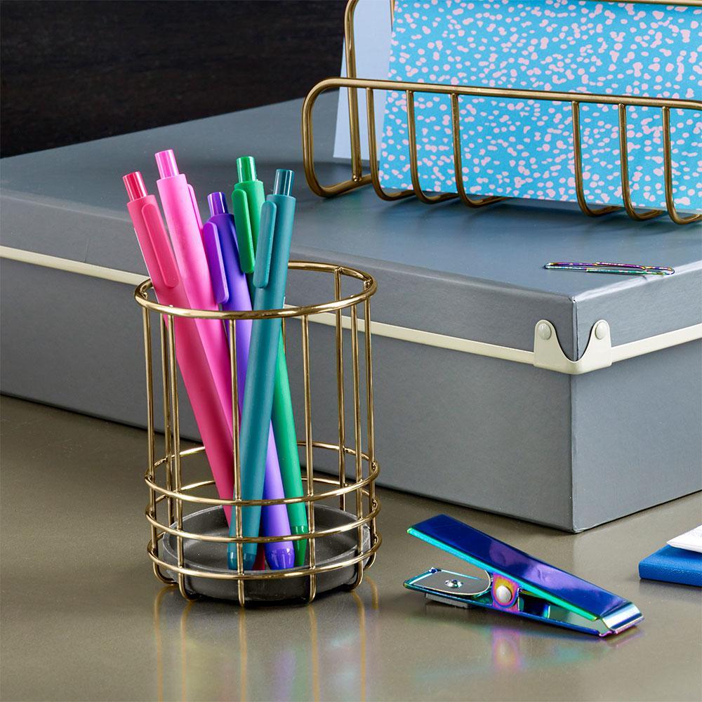 Design Ideas Savoy Metal Pencil Cup, Brass