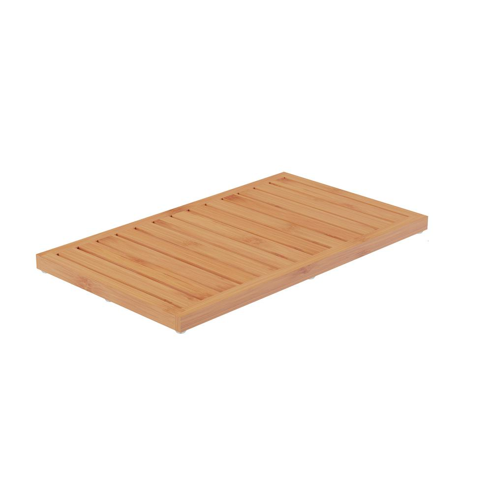 13.75 in. x 23.75 in. Bamboo Slatted Bathroom Mat, Natural