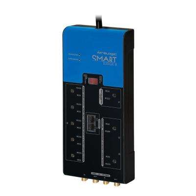 Smart Surge Strip 288,000 Amp and 3600 Joules 8-Outlet - Black