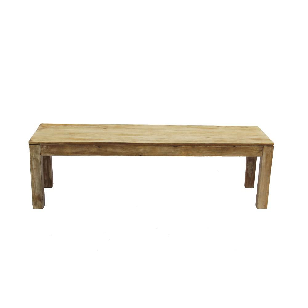 The Urban Port Natural Wood Distressed Customary Styled
