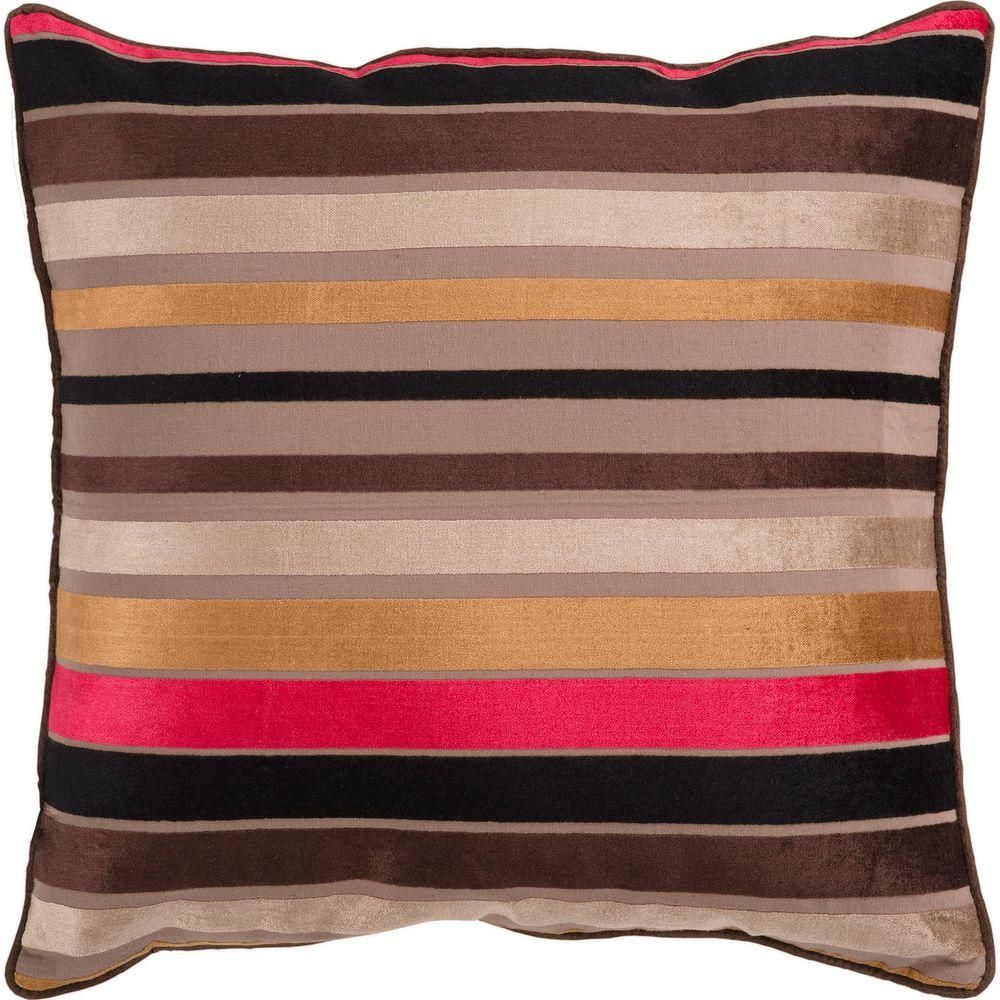 Artistic Weavers StripesC1 18 in. x 18 in. Decorative Down Pillow-DISCONTINUED