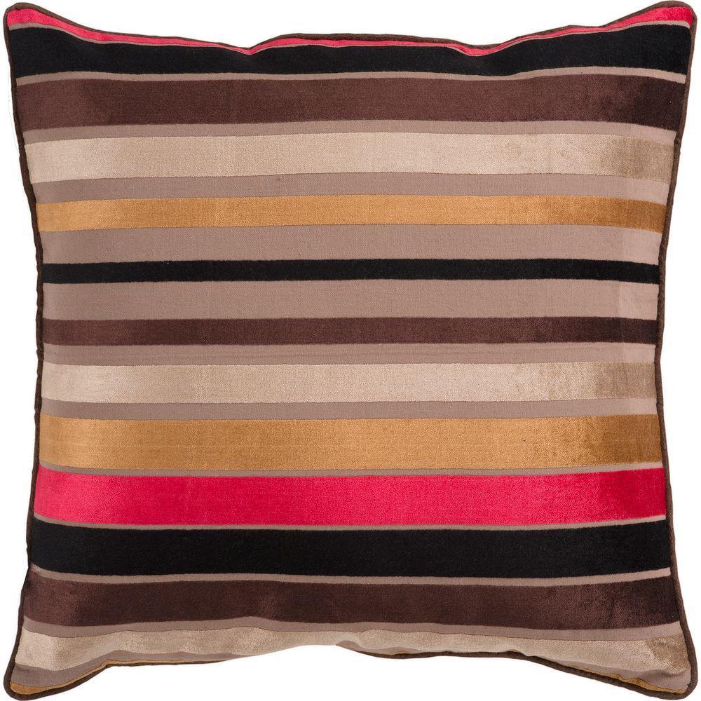 Artistic Weavers StripesC1 18 in. x 18 in. Decorative Pillow-DISCONTINUED