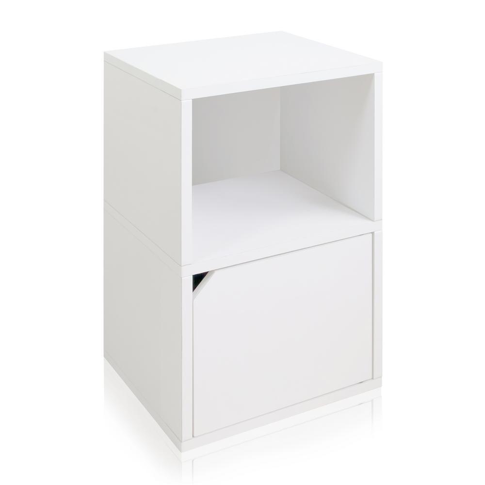 Way Basics Eco Zboard White Tool Free Embly Under Desk Storage Bookcase And Shelf Organizer With