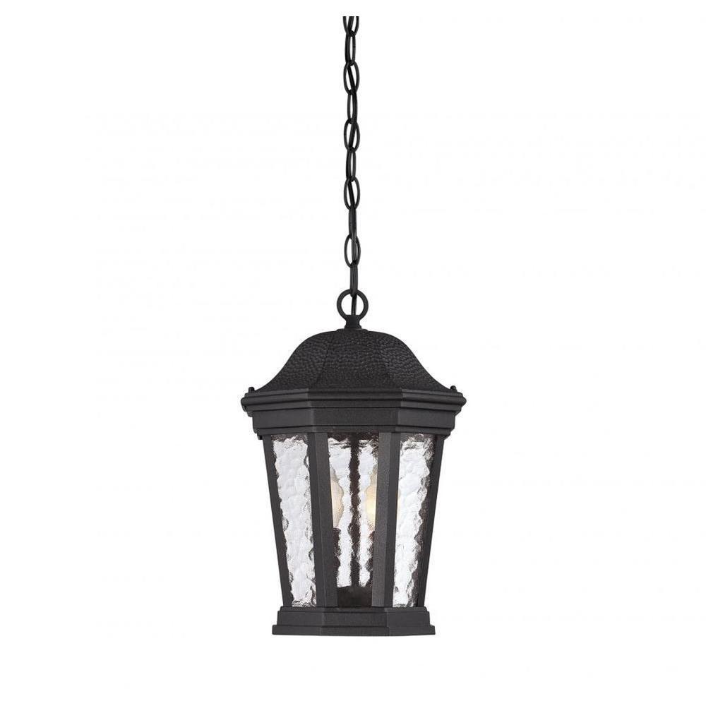 Tottington 2-Light Black Outdoor Hanging Lantern