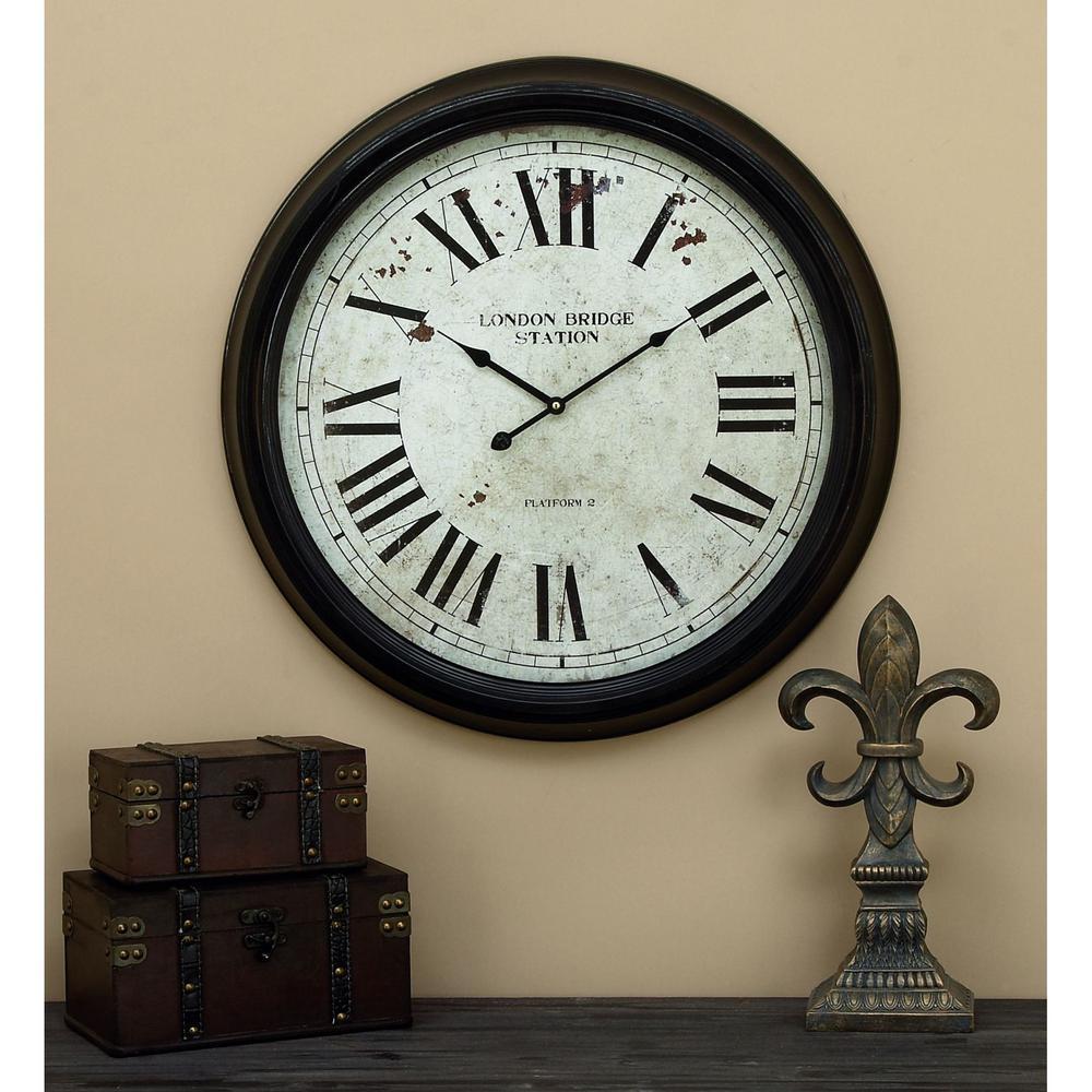 Metal Wall Clock 52102 The Home Depot