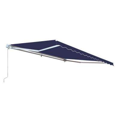 16 ft. Motorized Retractable Awning (120 in. Projection) in Dark Blue