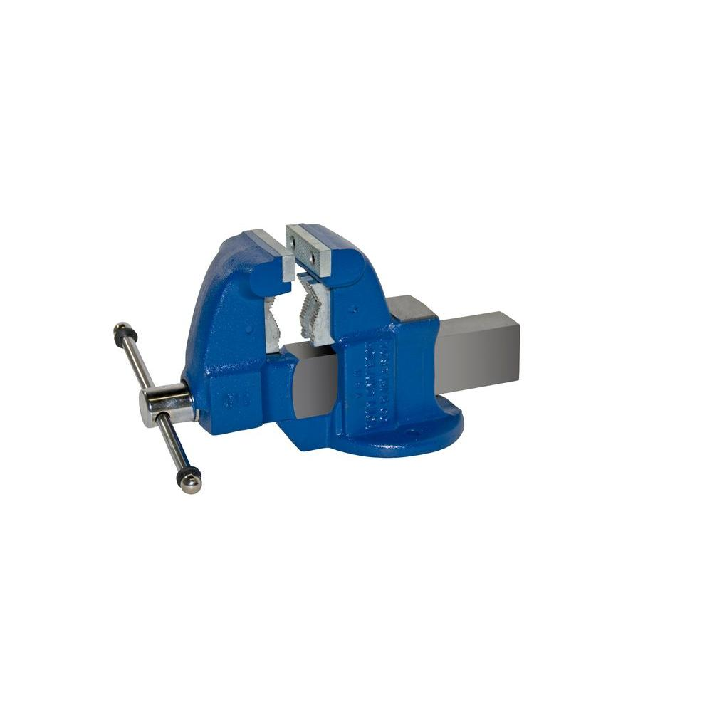 3-1/2 in. Heavy-Duty Combination Pipe and Bench Vise - Stationary Base