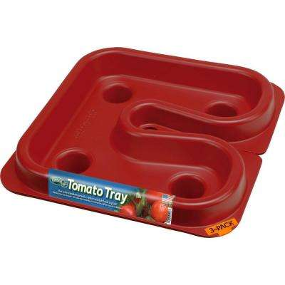 3.50 in. x 12 in. x 12 in. Dalen Products Red Tomato Tray (3 pack)