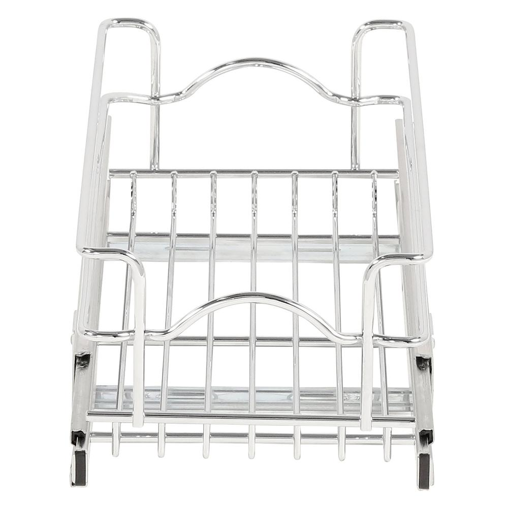 Sliding Pull Out Chrome Wire Basket Base Drawer Kitchen