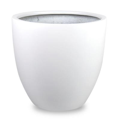Loire 15 in. Dia White Fiberglass Pot