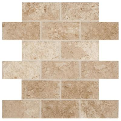 Montagna Cortina Avorio 12 in. x 12 in. x 6.35 mm Ceramic Brick Joint Mosaic Wall Tile (0.83 sq. ft. / piece)