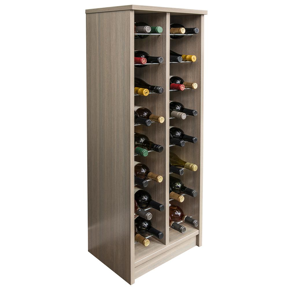 32-Bottle Coastal Haven Wood Wine Rack