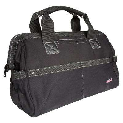 16 in. Soft Sided Construction Work Tool Bag, Black