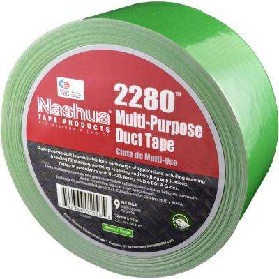 2.83 in. x 60.1 yds. 2280 Multi-Purpose Green Duct Tape