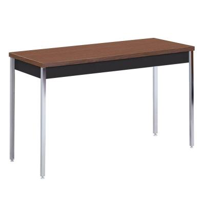 36 in. H x 60 in. W x 30 in. D Heavy Duty Steel Meeting/Activity Table in Black/Walnut