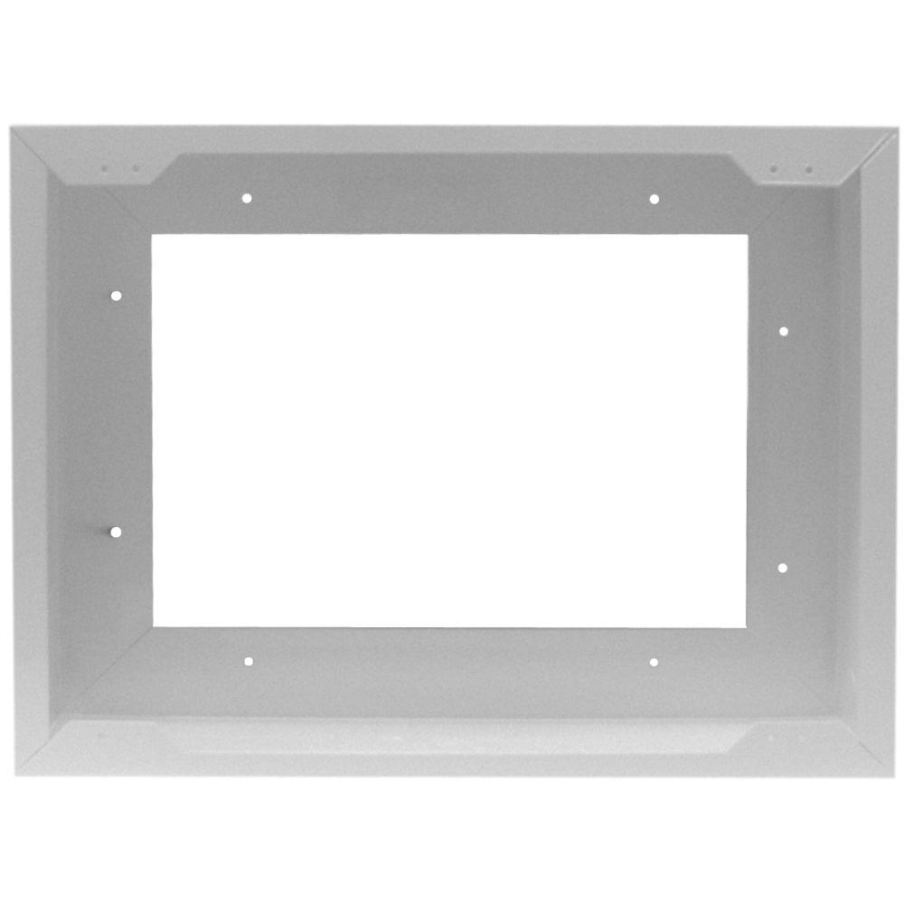 Cadet Com-Pak Twin Metal Surface Mount Adapter in White