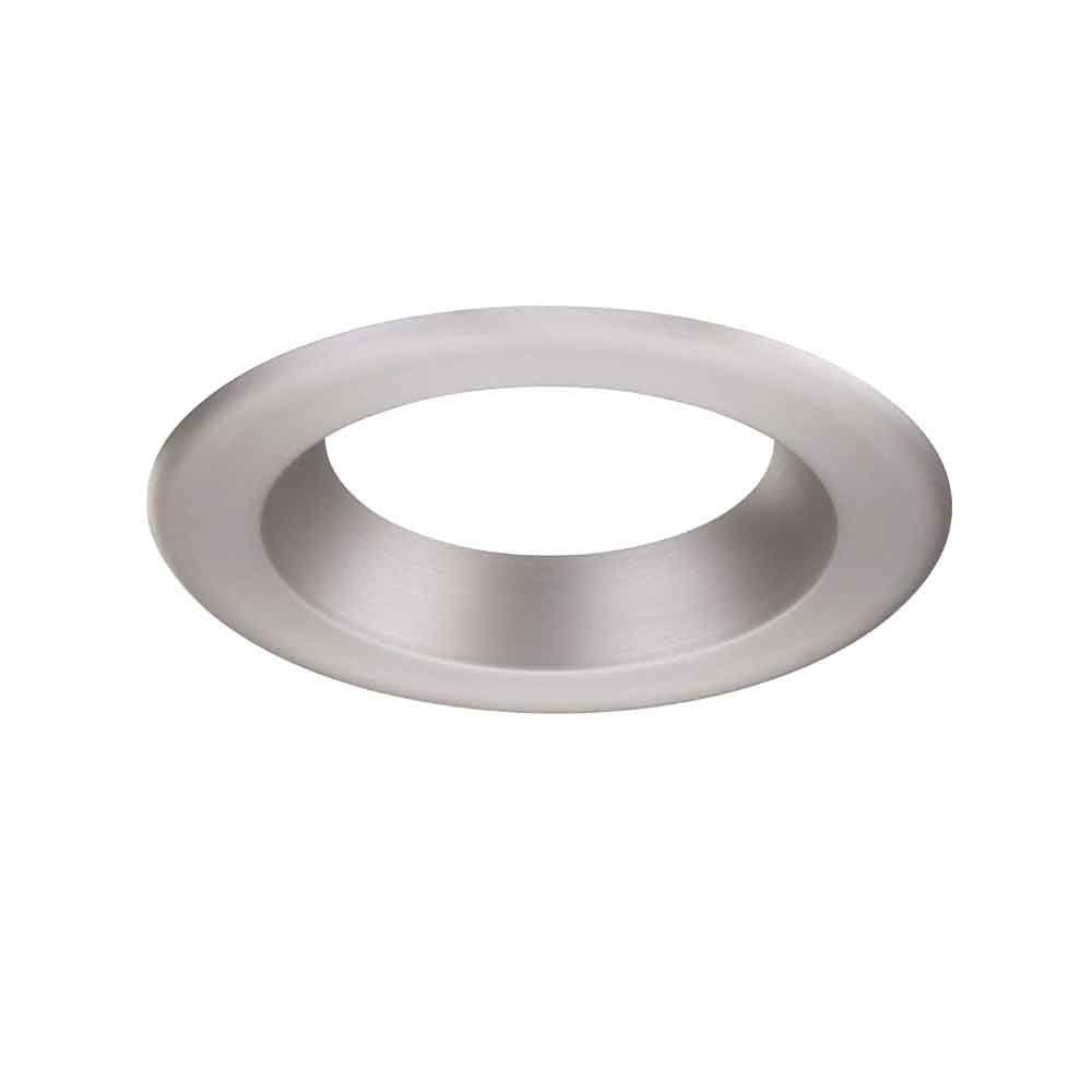 Decorative Brushed Nickel Trim Ring For LED Recessed Light With Magnetic  Trim Ring EVLT6741BN   The Home Depot