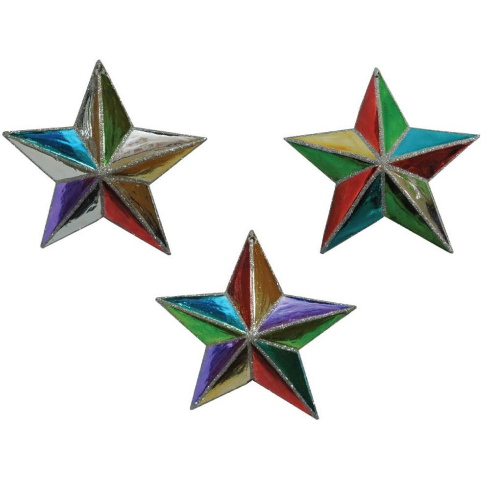 Martha Stewart Living Jingle Brights Star Ornament (12-Piece)
