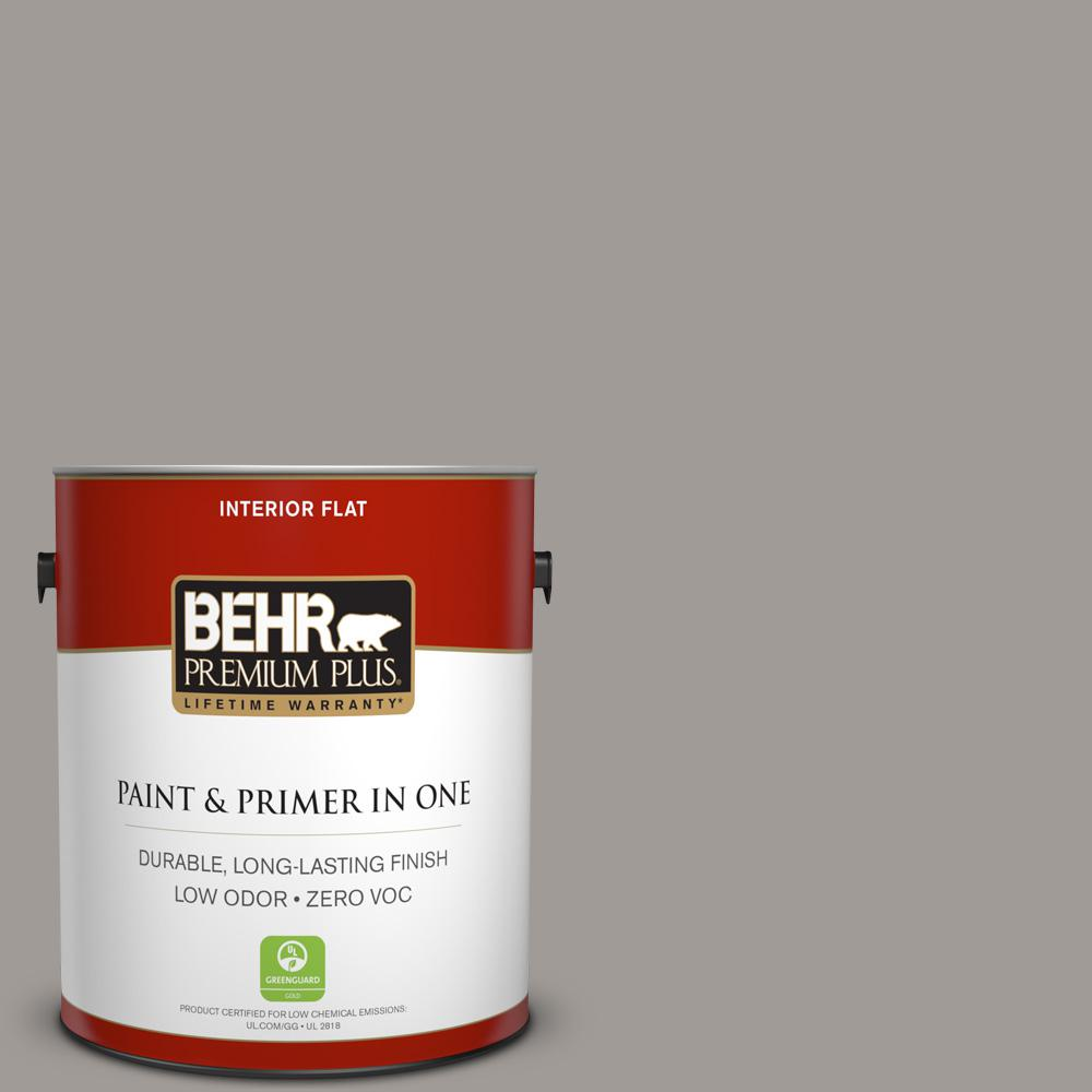 1 gal. #PPU18-15 Fashion Gray Zero VOC Flat Interior Paint