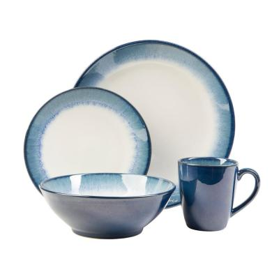 Novelle 16-Piece Casual Dusk Porcelain Dinnerware Set (Service for 4)